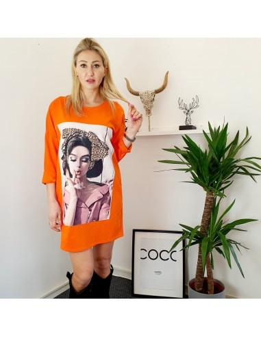 Maxi-maglia picture orange