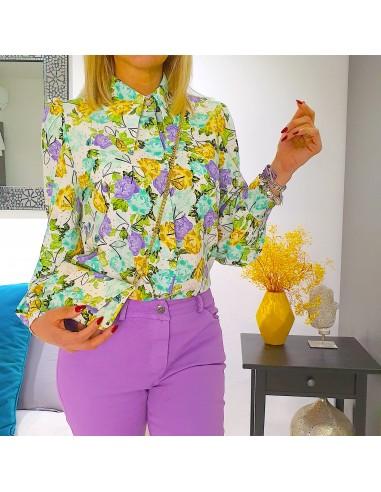 Camicia con tracolla floreale