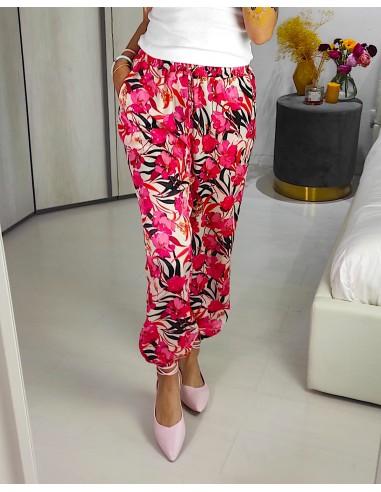 Pantalone lungo floreale