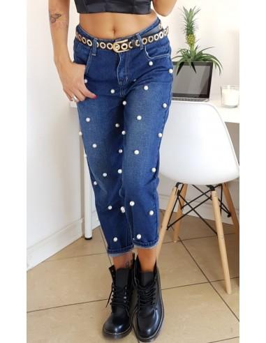 Pantaloni con perline